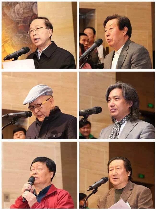左中一、刘大为、龙瑞、吴为山、王西京分别在开幕式上致辞,杨晓阳致答谢词