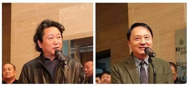 张江舟介绍出席嘉宾、王明明主持开幕式